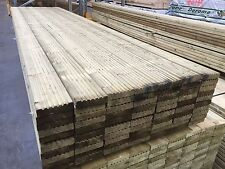 32x125mm Green Tannalised Treated Softwood Decking (28x120mm finish) 4.2 meter