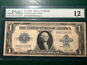 Fr-238 1923  $1.00 silver Certificate PMG#12