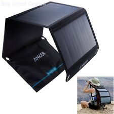 Anker Solar Charger 21W 2-Port USB Solar Panel Charger With Power New