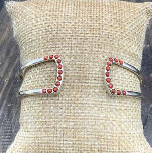 Barse Diva Cuff Bracelet- Coral- Sterling Silver- NWT