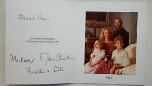 Prince Michael Marie Autograph Signed Christmas Card King George Queen Elizabeth