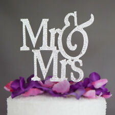 Rhinestone Diamante Monogram Wedding Cake Topper Mr & Mrs Plus I DO shoe sticker