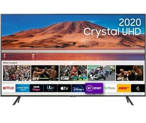"""Samsung 75"""" TU7100 HDR Smart 4K TV with Tizen OS CARBON SILVER"""