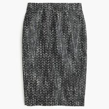 NWT J. Crew No. 2 Pencil Skirt in Holographic Tweed,  Size 8