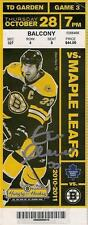 Zdeno Chara Boston Bruins Signed Autographed 2011 Cup Season Vs Leafs Ticket
