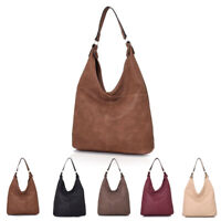 Womens Tori V Slouch Plain Design Large Tote Hobo Shoulder Bag Shopper Handbag