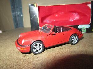 516Q Schabak 1110 Allemagne Porsche 911 Carrera 2 Cabriolet Rouge 1:43 + Boite