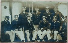 INDOCHINA 1904 REAL PHOTO PICTURE POST CARD OFFICERS OF MERCHANT SHIP AT SAIGON