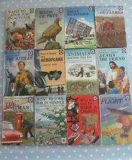 COLLECTION / JOB LOT OF 12 VINTAGE LADYBIRD BOOKS INC AIRMAN POSTMAN & FARMER