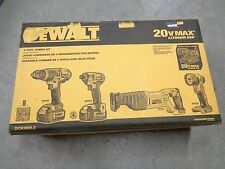 NEW DEWALT DCK490L2 4 PIECE 20 VOLT LITHIUM ION CORDLESS TOOL KIT SAW DRILL