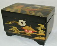 MM Vintage Japanese Jewelry Music box Mid-century MADE IN JAPAN w/key