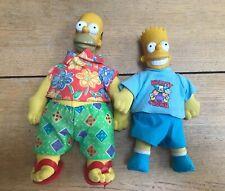 I Simpson parlando giocattolo morbido Peluche-Homer Simpson//Bart Simpson-Alto 30 CM-NUOVO