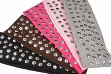 Color Silver Studded Elastic Stretch  Headband Wrap Girl Hair Band Accessories