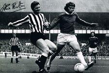 Ollie Burton Newcastle United autógrafo firmado foto prueba ferias Taza 1969 héroe +