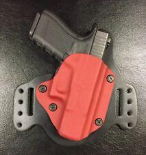 Glock 19/23 IWB/OWB Morph Hybrid Holster, Red Kydex, leather, RH