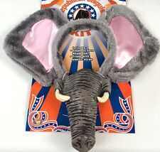 REPUBLICAN ELEPHANT DISGUISE KIT Rubber Trunk Nose Cloth Big Ears Hat Mask Adult