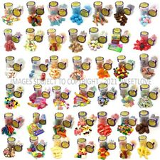 More details for sweet vending refill 81 x 53mm pots: 9 x 9 random pack including all labels.