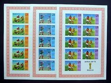 BARBUDA Wholesale Football World Cup Imperf Sheetlets (3) U/M NB801