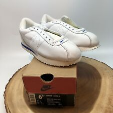 Vintage 1999 Nike Air Leather SC White Royal 602036 115 Size 6.5 DS Max Jordan I