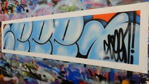 SEEN Original CANVAS BUBBLES blue Richard Mirando Graffiti Godfather cope dondi