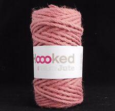 Hoooked Natural Yute Tea Rose-Crochet Hilo De Ganchillo 100% Natural Yute