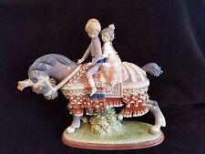 LLADRO RETIRED GIRL BOY VALENCIAN CHILDREN  HORSE #1489 FIGURINE STATUE 01001489