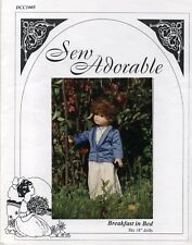 """Sew Adorable Doll Clothes Pattern, fits 18"""" American Girl, Breakfast in Bed"""