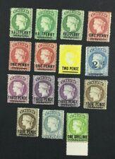MOMEN: ST HELENA SG #34/45 1884-94 CROWN CA MINT OG H £250 LOT #5123