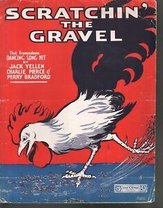 Scratchin the Gravel 1917 Large Format Sheet Music