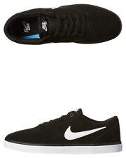 Nike SB Check Solarsoft Black White Mens Suede Skateboard Shoes Size 11