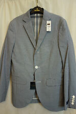 NWT Brooks Brothers 1818 Milano Navy White Cotton Sport Coat 36R MSRP $448