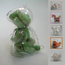5x clear plastic favour/party/sweet boxes Beetle Car. Piggy, rabbit, duck.  UK