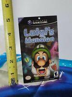 Nintendo GameCube Luigi's Mansion Promo Retail Advertising Card RARE