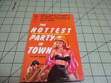 THE HOTTEST PARTY IN TOWN BY JAN HUDSON    RARE INTIMATE PULP SLEAZE EROTICA GGA