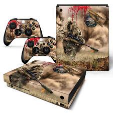 Xbox One X Console Skin Decal Sticker War Sniper Camouflage Custom Design Set