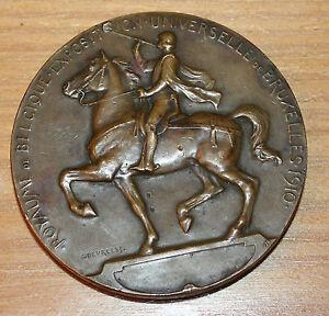 grosse médaille royaume de Belgique exposition universelle signée c. devreese
