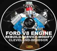 FORD V8 260 289 302 351 WINDSOR CLEVELAND REBUILD REPAIR WORKSHOP MANUAL CD