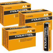 30 Duracell Industrial AA Alkaline Batteries Replaces Procell MN1500 1.5V UK