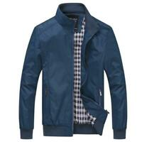 Men's Jacket Slim Fit Collar Cotton Coat Fashion Casual Outwear Jacket Coats Top