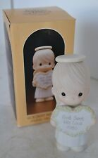 Precious Moments Porcelain Figure 1985 God Sent His love With Box Angel