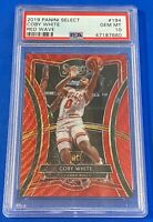 2019 Panini Select Coby White Red Wave RC #194 PSA 10 GEM  (Pop 2) Premier Bulls