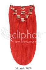 "15"" Full Head Premium Clip in Human Hair Extensions"