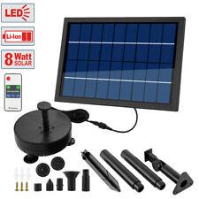 8W Fuente Solar Batería Pozo Jardín Primavera Juego Agua Bomba de Estanque
