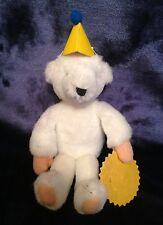"""Tiny Lovely Handmade White Teddy Bear - 6.5"""" Tall - NWOT"""