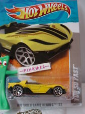 Case L 2011 Hot Wheels YUR SO FAST #242 Yellow Video Game Heroes