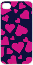 Valentine's Navy and Hot Pink Heart Collage iPhone 4 4s Case Cover