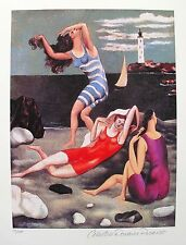 Pablo Picasso THE BATHERS Estate Signed & Numbered Small Giclee Art