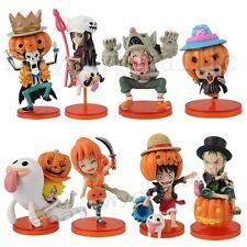 8x One Piece Halloween Special Volume 2 Luffy Zoro Nami Usopp 5cm-8cm PVC Figure