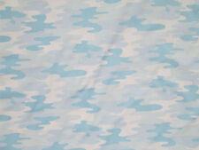 CAMO BLUE WHITE PASTELS CAMOUFLAGE COTTON FABRIC FQ