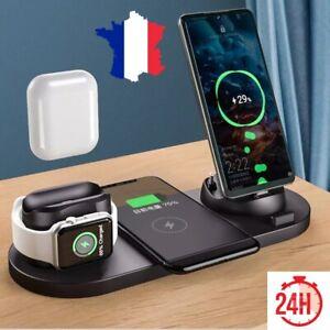 station d'acceuil 6 en 1 charge smartphone ecouteurs montre